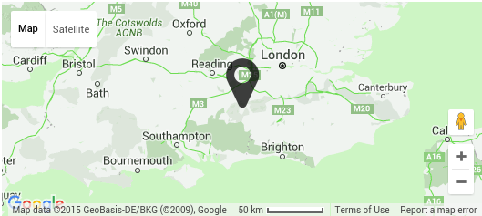 Godalming Location Map - Click for Contact details