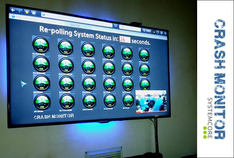 Image of Crash Monitor-Server monitor-Uptime monitor-control screen