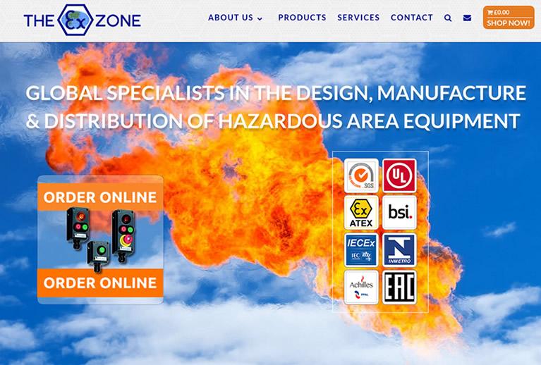 The ExZone website image