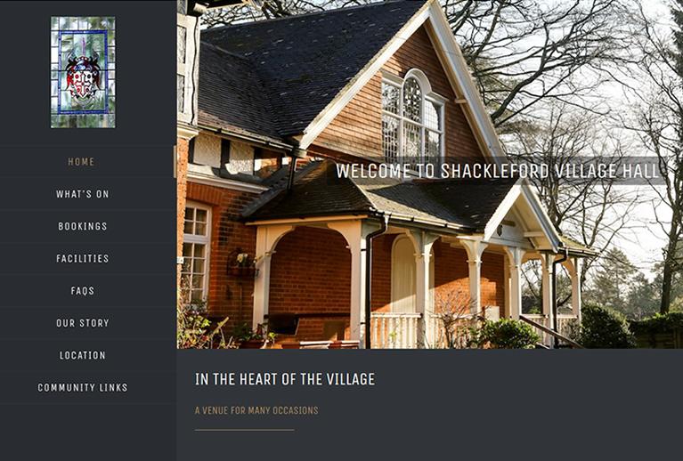 Shackleford Village Hall website image