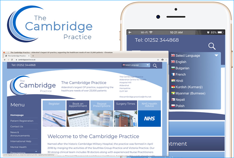 The new Cambridge Practice website