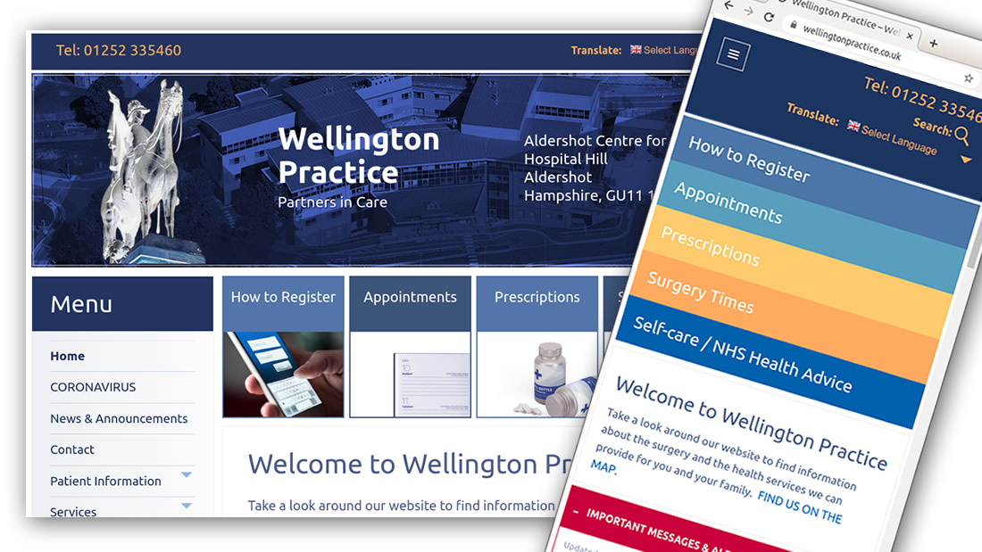 Wellington Practice new website image