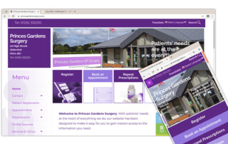 Princes Gardens Surgery website image