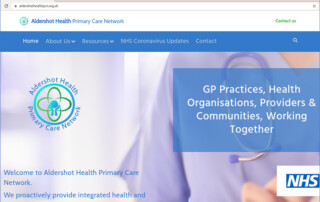 Aldershot Health Primary Care Network website image